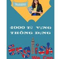 Sách 4000 Từ Vựng Thông Dụng Trong Tiếng Anh PDF/EBook